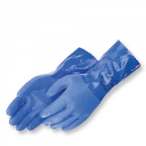 Liberty Gloves Atlas 660 Premium Triple Dipped Blue PVC Glove with 12