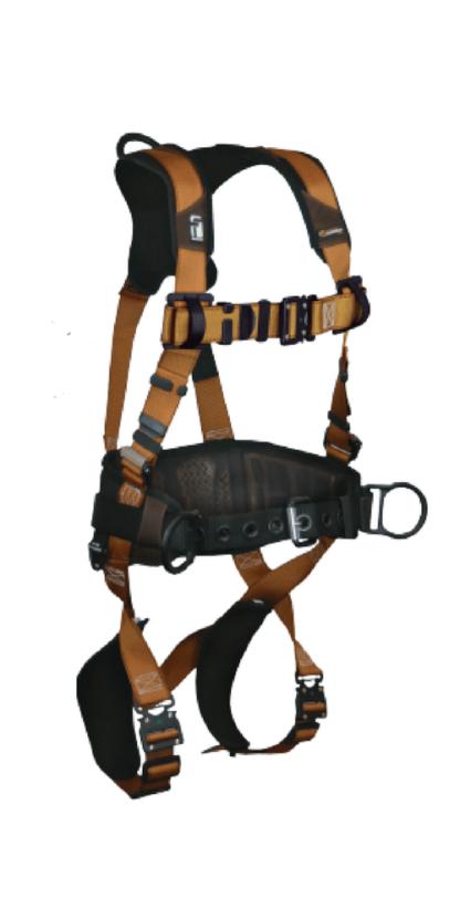 FALLTECH 7083B Construction Belted Harness