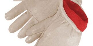 7217 Insulated Standard Grain Pigskin Drivers Glove With Red Fleece Lining, Dozen