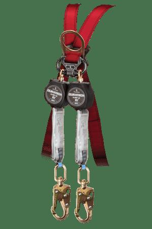 Falltech 72706TB2 6' Mini SRD Twin-Leg Carabiner with Alignment Clip and Swivel Snap Hooks