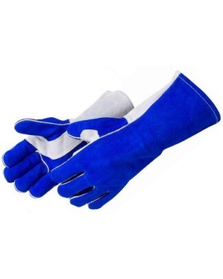 Liberty Gloves 7324 Blue Leather Welder (Gray Reinforced Thumb and Palm), Dozen