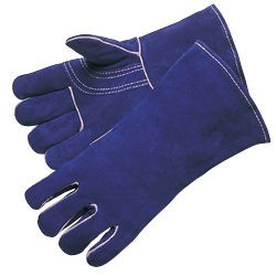 Liberty Gloves 7344 Premium Blue Side Split Leather, Reinforced Thumb and Kevlar Sewn Welders Gloves, Dozen