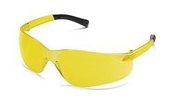 MCR BK114 Bearkat Amber Lens Safety Glasses & Frame with Black Temple