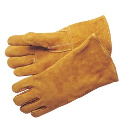 Liberty Gloves 7644 Premium Side Split Leather Bourbon Brown Kevlar Sewn Welding Gloves, Dozen