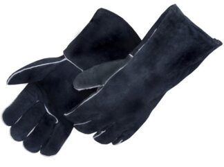 Liberty Gloves 7770 Black Regular Leather Welders, Dozen