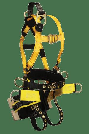 FallTech 8001B RoughNeck 7-D Full Body Harness with Integral Bosun Board Seat