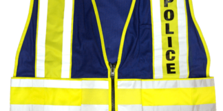 MLK 8051BV Lime Blue/Police Class 2 Safety Vest