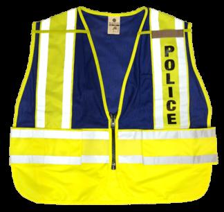 MLK 8051BV Lime Blue/Police Class 2 Safety Vest