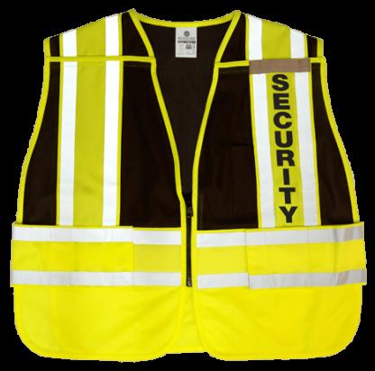 MLK 8055BZ Lime Black/Security Class 2 Safety Vest