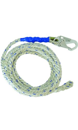 FallTech 8125 Vertical Lifeline 25' VLL Snap Hook + Back Splice 5/8