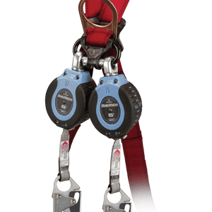 Falltech 82706TB1 DuraTech® 6ft  Twin Compact Web SRL with Steel Snap Hook leg-end Connectors