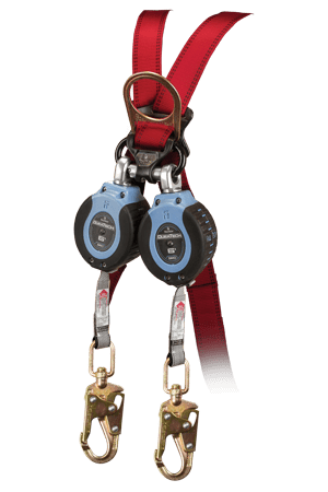 FallTech 82706TB2 Twin 6ft Compact Web SRL with Steel Swivel Snap Hook leg-end Connectors