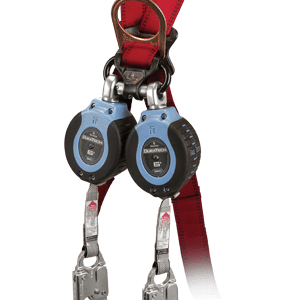 FallTech 82706TB4 DuraTech®  Twin 6ft Compact Web SRL Aluminum Snap Hook leg-end Connectors