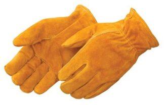 8454 Red Fleece Lined Bourbon Brown Split Cowhide Drive Glove, Drozen
