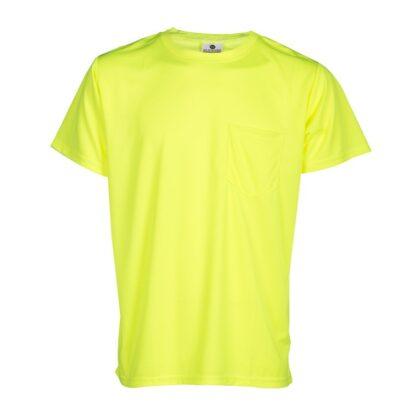 ML Kishigo 9124 Microfiber Short Sleeve Lime T-Shirt