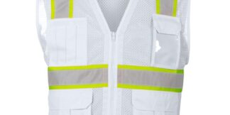 ML Kishigo B105 Enhanced Visibility Multi-Pocket White Mesh Vest
