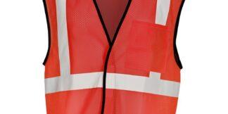 ML Kishigo B122 Enhanced Visibility Red Mesh Vest