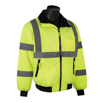 C16722G Class 3 Lime Hi-Visibility Green Bomber Jacket