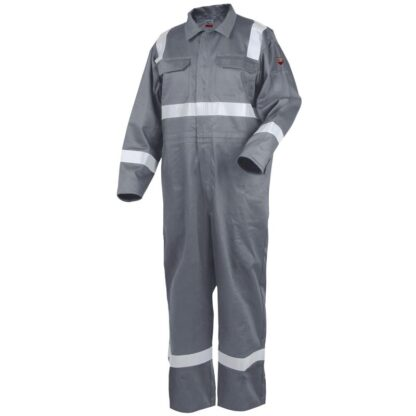 Revco CF2216-GY 9oz Deluxe FR Cotton Coverall, Gray with 2