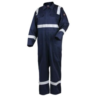 Revco CF2216-NV 9oz Deluxe FR Cotton Coverall, Navy Blue with 2