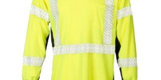ML Kishigo F406 Premium Black Series FR Long Sleeve Lime T-Shirt