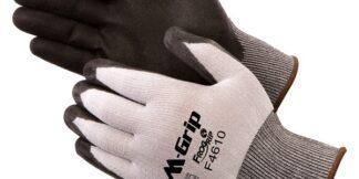 F4610 M-Grip Black High Density Polyurethane 15 Mil Coated Palm Glove, Dozen