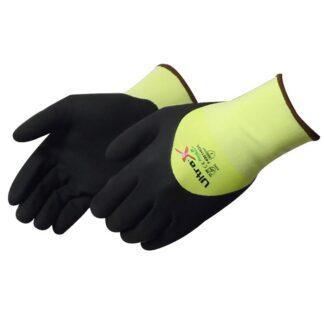 Liberty Gloves F4901HG Ultra-X 18 Gauge Cut Resistant Hi Vis Green Shell with 3/4 Black Micro-Foam Nitrile Coated Palm, Dozen