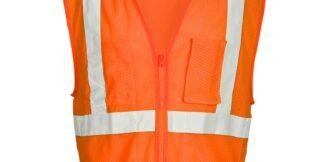 ML Kishigo FM420 Self Extinguishing Mesh Orange Vest