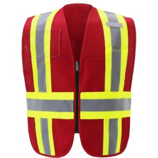 IC110RD RED CONTRAST INCIDENT COMMAND VEST
