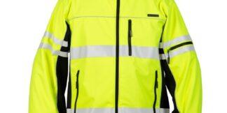 ML Kishigo JS137 Premium Black Series Lime Soft Shell Jacket