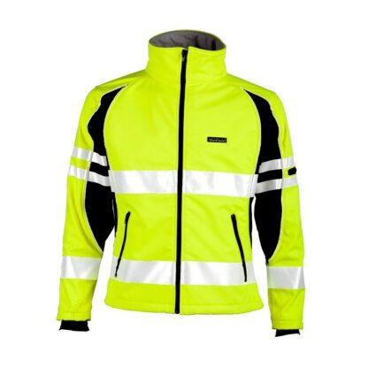 ML Kishigo JS144 Premium Black Series Unisex Soft Shell Lime Jacket