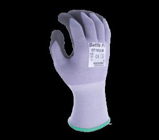 OT1032 15 Gauge Nylon Knit Shell, Super-Foam Nitrile Coated Palm w/ Nitrile Dots Gloves