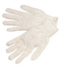P4527 Heavy Natural White Cotton/Polyester String Knit Gloves, Dozen