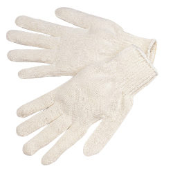 4517T Medium Weight Natural White Cotton/Polyester String Knit Gloves, Dozen
