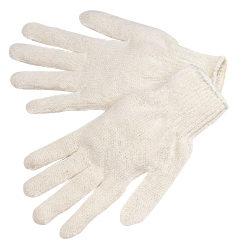 K4517Q Standard Weight Natural White Cotton/Polyester String Knit Gloves, Dozen