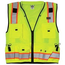ML Kishigo S5000 Class 2 Lime Professional Surveyors Safety Vest