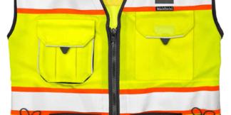 S5002 Premium Black Series Lime Class 2 Surveyors Vest