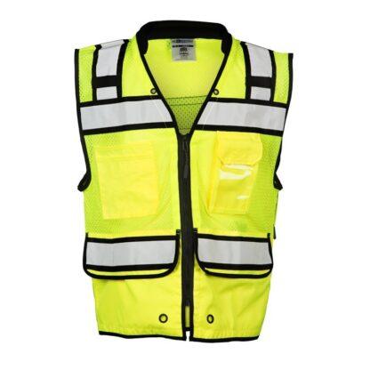 ML Kishigo S5004 High Performance Surveyors Zipper Lime Vest