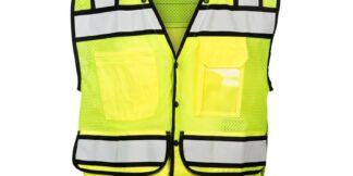 ML Kishigo S5006 High Performance Surveyors Snap Lime Vest