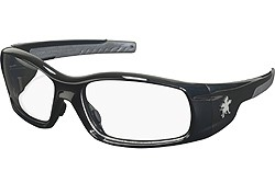 SR110 SWAGGER POLISHED BLACK FRAME, CLEAR LENS