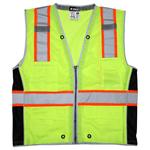 MCR SURVCL2L Class 2 Lime Mesh Vest