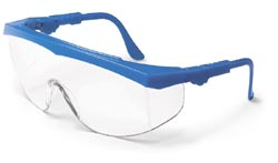 Tomahawk Safety GlassesBlue Frame, Clear Lens, Duramass AF4