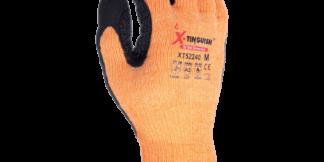 XT52240 13 Gauge Aramid Fiber Shell, Sandy Nitrile Coated W/ Nitrile Dots, Aramid Thumb Saddle Glove
