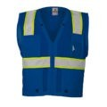 ML KISHIGO B102 ENHANCED VISIBILITY MULTI-POCKET BLUE MESH VEST