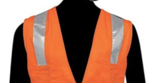 C16021F Orange All Solid Fabric Class 2 Vest