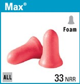 MAX-1 FOAM  EAR PLUGS WITHOUT CORDS 200 PAIR