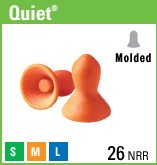 QUIET QD-30 EAR PLUGS  WITH CORD 100 PAIR