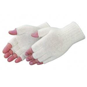 F4517Q Fingerless Natural White Cotton/Polyester Knit Wrist Glove, Dozen