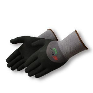 Liberty Gloves F4601 G-Grip Black Nitrile Palm Glove with Covered Back, Dozen