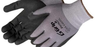 Liberty Gloves F4650 G-GRIP Black Sandy Nitrile Palm Coated Glove, Dozen
